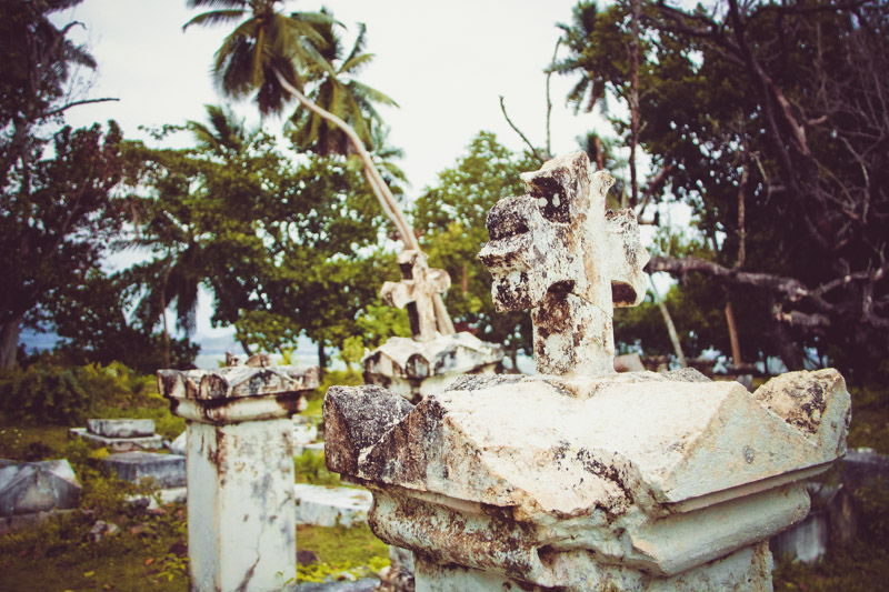 Old cemetery on La Digue