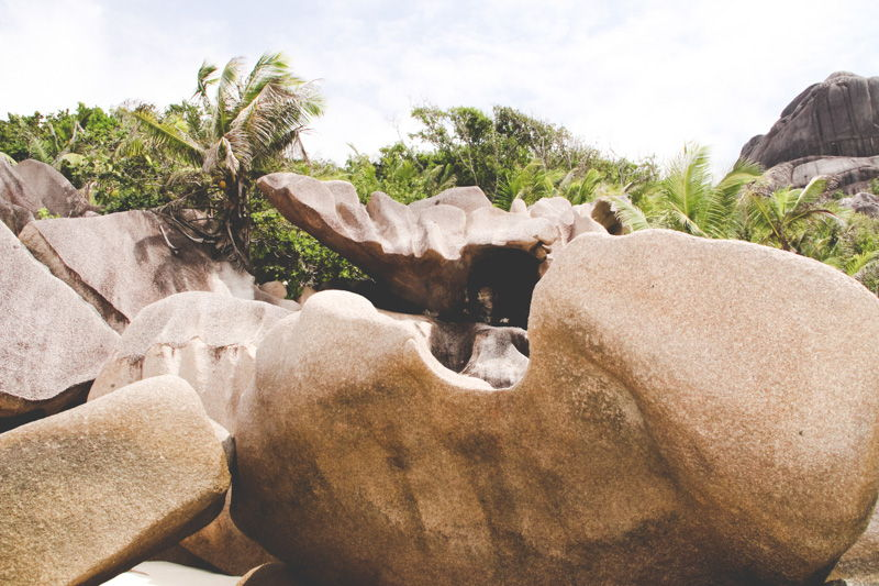 Rock formations on La Digue